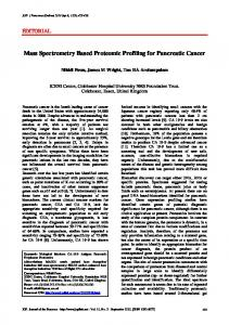Mass Spectrometry Based Proteomic Profiling for Pancreatic Cancer