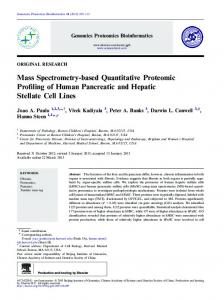 Mass Spectrometry-based Quantitative Proteomic Profiling of ... - Core