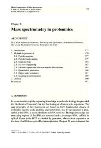 Mass spectrometry in proteomics