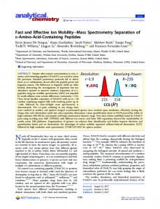 Mass Spectrometry Sep Mass Spectrometry Sep Mass Spectromet