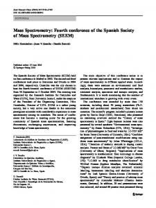 Mass Spectrometry - Springer Link