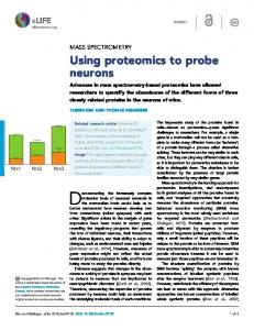 Mass Spectrometry: Using proteomics to probe neurons | eLife
