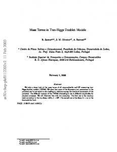 Mass Terms in Two-Higgs Doublet Models
