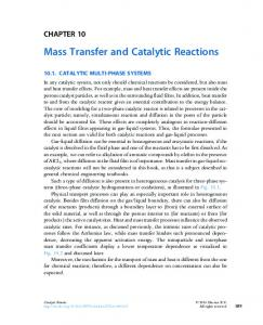 Mass Transfer and Catalytic Reactions
