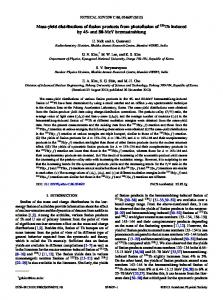 Mass-yield distributions of fission products from photofission of 232Th ...