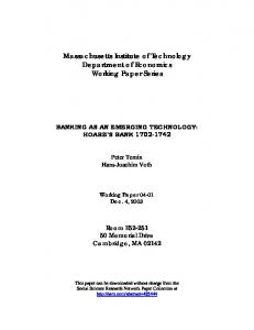 Massachusetts Institute of Technology Department of ... - SSRN papers