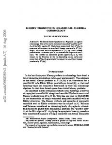 MASSEY PRODUCTS IN GRADED LIE ALGEBRA COHOMOLOGY