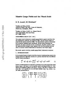 Massive Gauge Fields and the Planck Scale