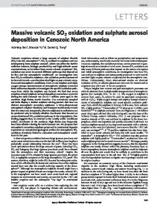 Massive volcanic SO2 oxidation and sulphate aerosol deposition in ...