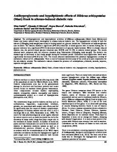(Mast) Hook in alloxan-induced diabetic rats
