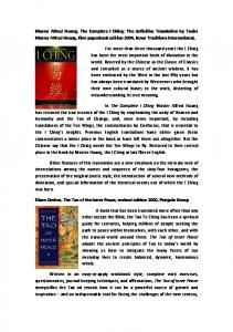 Master Alfred Huang, The Complete I Ching: The definitive ...