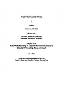 Master by Research Thesis Project Title: Robot Path ... - QUT ePrints