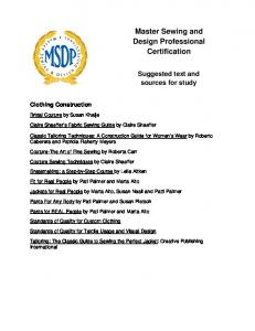 Master Sewing and Design Professional Certification