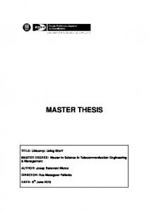 master the master thesis - UPCommons