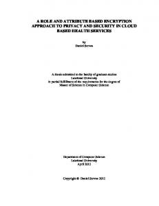 Master thesis - Computer Science - Western University