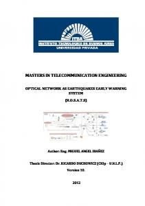 MASTERS IN TELECOMMUNICATION ENGINEERING