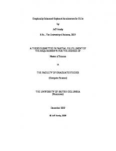 Masters thesis - UBC Computer Science - University of British Columbia