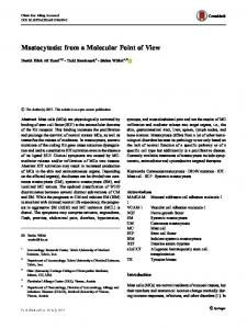Mastocytosis: from a Molecular Point of View