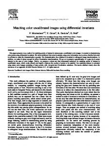 Matching color uncalibrated images using ... - Semantic Scholar