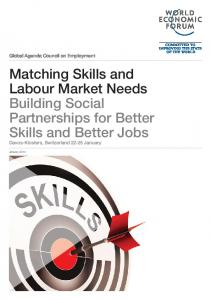 Matching Skills and Labour Market Needs Building Social ...
