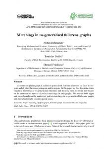 Matchings in m-generalized fullerene graphs - Ars Mathematica ...