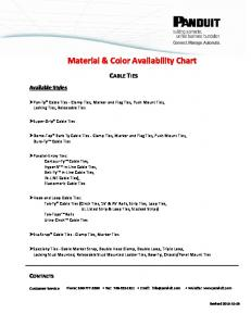 Material & Color Availability Chart