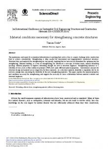 Material Conditions Necessary for Strengthening ... - ScienceDirect