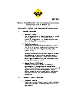 Material Detail Sheets for Tron-Flex elastomeric ... - New York State
