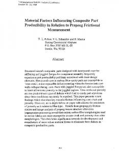Material Factors Influencing Composite Part ...