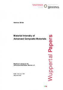 Material Intensity of Advanced Composite Materials - Publication ...