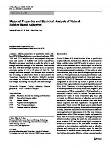 Material Properties and Statistical Analysis of Natural ... - Springer Link