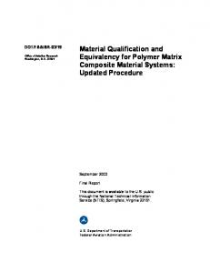 Material Qualification and Equivalency for Polymer Matrix ...