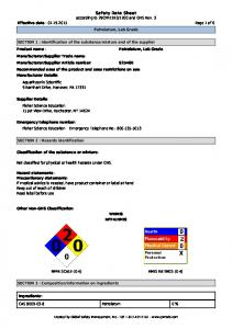 Material Safety Data Sheet - Fisher Scientific