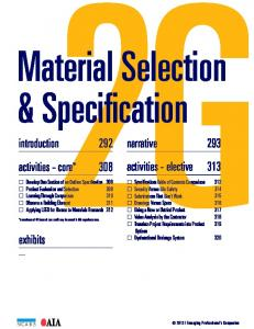 Material Selection & Specification