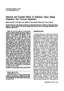 Maternal and Neonatal Effects of Substance Abuse ... - BioMedSearch