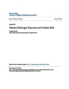 Maternal Estrogen Exposure and Autism Risk