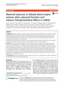 Maternal exposure to diluted diesel engine exhaust alters ... - Core