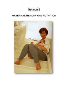 MATERNAL HEALTH AND NUTRITION