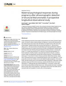 Maternal psychological responses during ... - Semantic Scholar