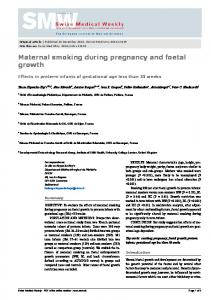 Maternal smoking during pregnancy and fetal growth. Effects in