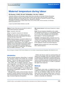 Maternal temperature during labour - Wiley Online Library