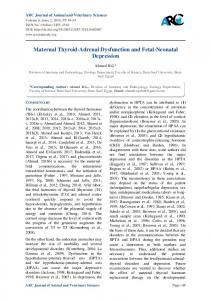 Maternal Thyroid-Adrenal Dysfunction and Fetal-Neonatal Depression
