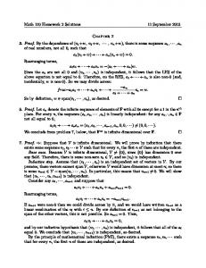 Math 110 Homework 2 Solutions 11 September 2013 Chapter 2 3 ...