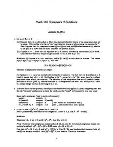 Math 110 Homework 2 Solutions