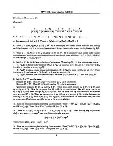 MATH 110, Linear Algebra, Fall 2013 Solutions to Homework #1 ...