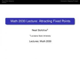 Math 2030 Lecture: Attracting Fixed Points