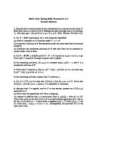 Math 212b, Spring 2009, Homework # 5 Invariant Measures 1 ...