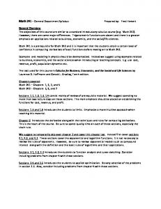 Math 1301 Student Syllabus - Cms uhd edu - the University of
