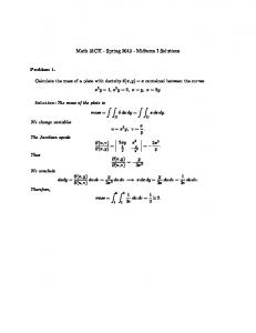 Math 31CH - Spring 2013 - Midterm I Solutions