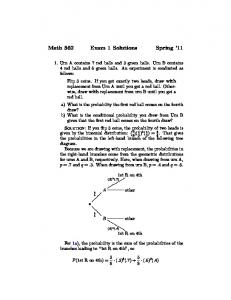 Math 362 Exam 1 Solutions Spring '11